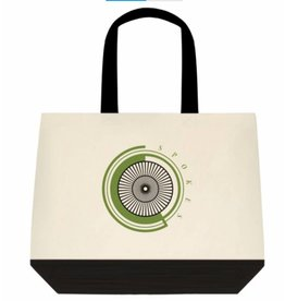 SPOKES Two-Tone Deluxe Classic Cotton Tote Bags