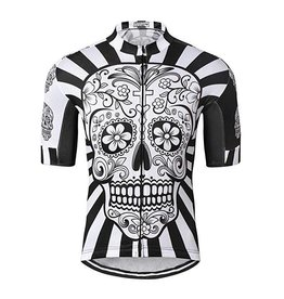 Quick Dry Black Skull  Jersey Size M