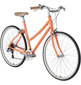 Civia Lowry Step Thru 7-Speed Bike: Orange/Coconut White LG