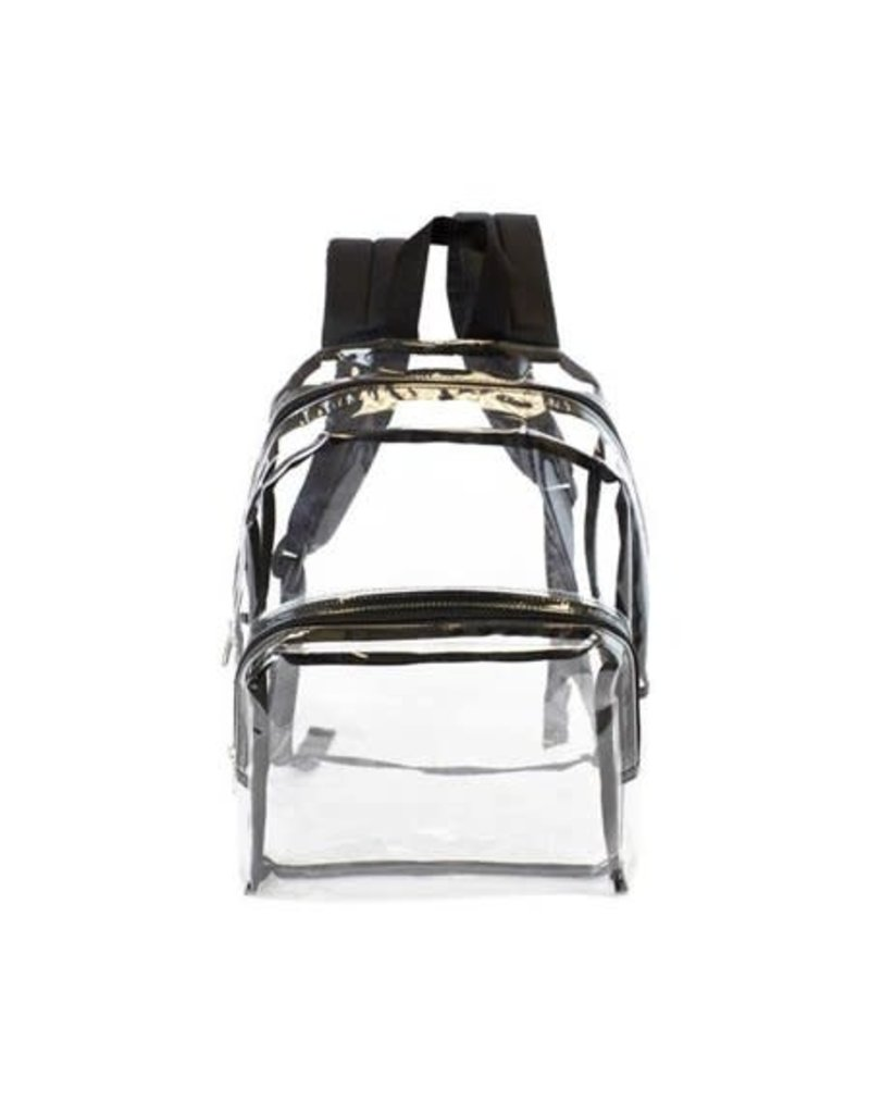 Tapestry Trading moda-west-blck 17 in. Clear Backpack with Black Trim, Adult Unisex, Size: Large