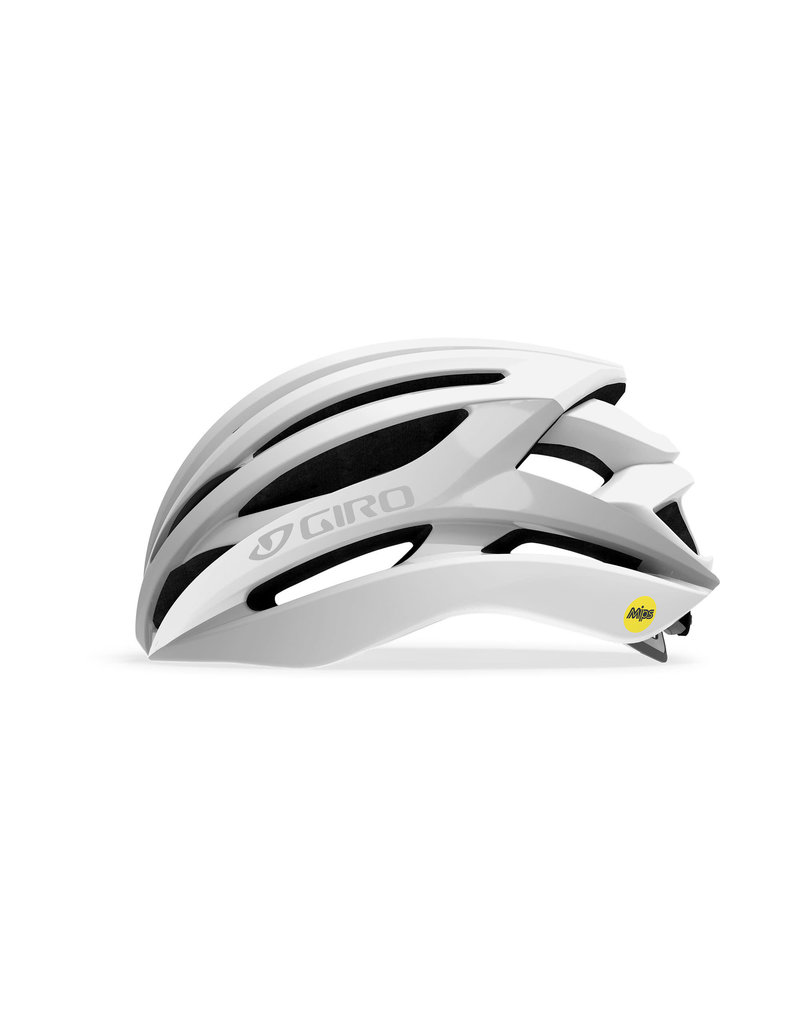 Giro Cycling Giro Syntax MIPS Adult Road Bike Helmet - Matte White/Silver - Size XL (61-65 cm)