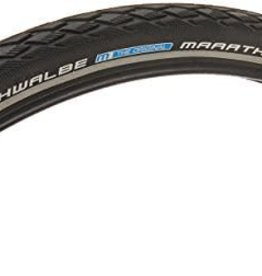 Schwalbe Marathon Tire, 700x25 Wire Bead Black with Reflective Sidewall and GreenGuard Protection