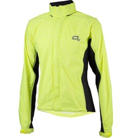 O2 Primary Rain Jacket with Hood: Hi-Vis Yellow~ MD