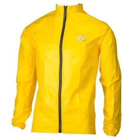 O2 Cycling Rain Jacket: Yellow LG