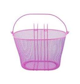 Oval Steel Mesh Basket 21-H pink.
