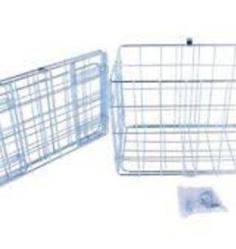 Wald 582 Folding Pannier Basket for Rear Rack: Silver