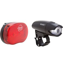 Planet Bike Planet Bike Beamer 1 Headlight and Blinky 3 Taillight, Set