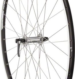 Quality Wheels Road Rim Brake Front Wheel 100mm 700c QR Deore M610 Silver / Alex ACE19 Black / DT Industry Sil