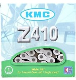 """KMC 410H-NP Chain: 1/8"""" 98 Links Silver"""
