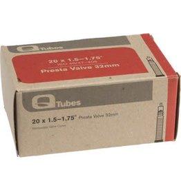 """Q-Tubes 20"""" x 1.5-1.75"""" 32mm Presta Valve Tube 118g"""