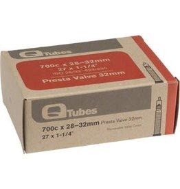 Q-Tubes 700c x 28-32mm 32mm Presta Valve Tube 128g