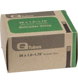 """Q-Tubes 26"""" x 1.5-1.75"""" Schrader Valve Tube 165g"""