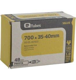 Q-Tubes Value Series Tube with 48mm Presta Valve: 700c x 35-40mm