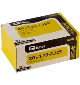 "Q-Tubes Value Series Tube with Low Lead Schrader Valve: 20"" x 1.75-2.125"""