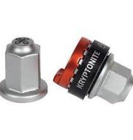 Kryptonite Security Wheelnutz Solid Axle Locking Nuts: Size M9