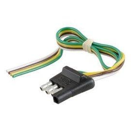 Curt Manufacturing LLC CURT 4-Way Flat Connector Plug #58031