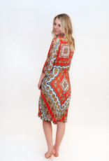 DEX Dex Chain Print Midi Dress