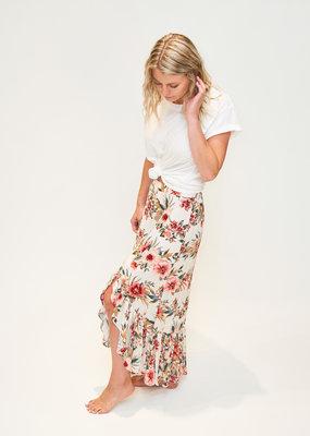 DEX DEX Floral Ruffle Skirt