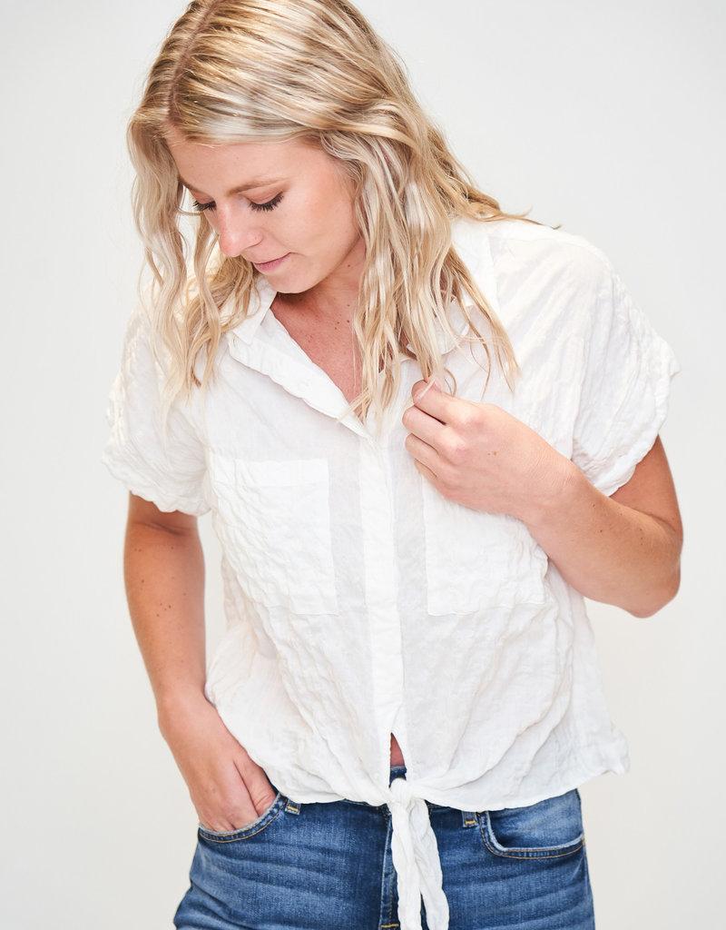 Elan Elan Front Tie Shirt