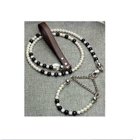 Pearl Pet Collar-Leash. Adjustable