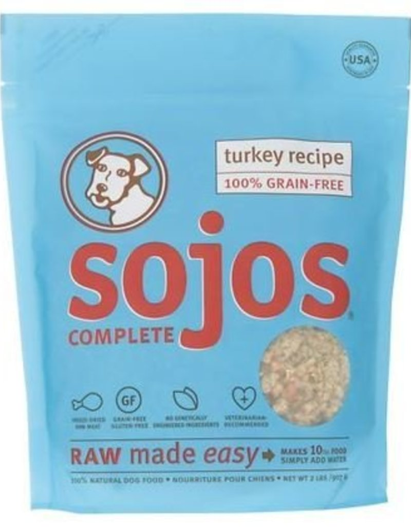 Sojos Sojos Complete Turkey Recipe Adult Grain Free Freeze Dried Raw Dog Food 2lb Bag