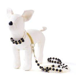 Pearl Pet Collar - Leash. Japanese Beads