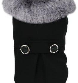 Warm Doggie Trench Coat; Penguin. Pet Apparel