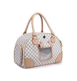 Fashion Airline Approved Pet Carrier/Travel Bag PU Leather. Handbag
