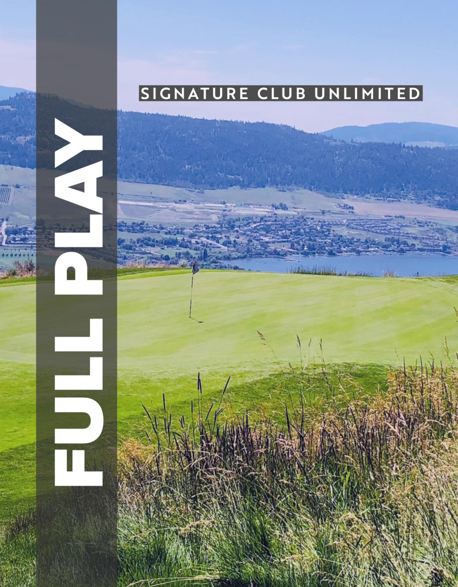 2020 Full Play Unlimited Membership