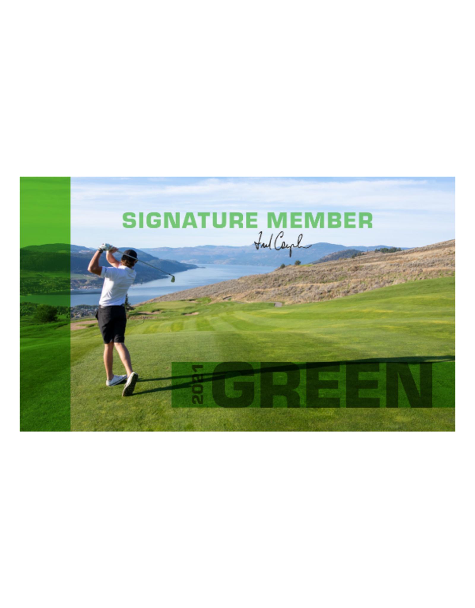 The Rise 2021 Signature Club Green Membership