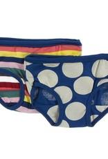 Kickee Pants Bright London Stripe Underwear Set