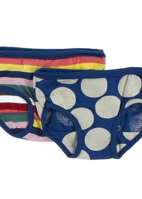 Kickee Pants Bright London Stripe Underwear Set