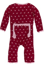 Kickee Pants Candy Apple Rose Bud Coverall