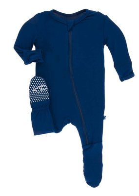 Kickee Pants Navy Solid Footie