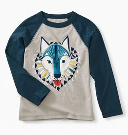 Tea Collection Woof Wolf Raglan Tee