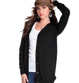 Black Button Down Cardigan  XLarge