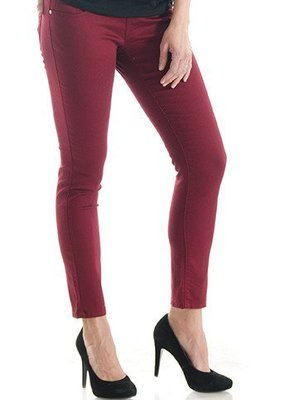 Burgundy Skinny Denim  L