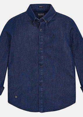 Mayoral USA Printed Denim Shirt