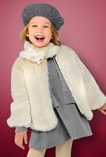 Mayoral USA Stone Fur Coat