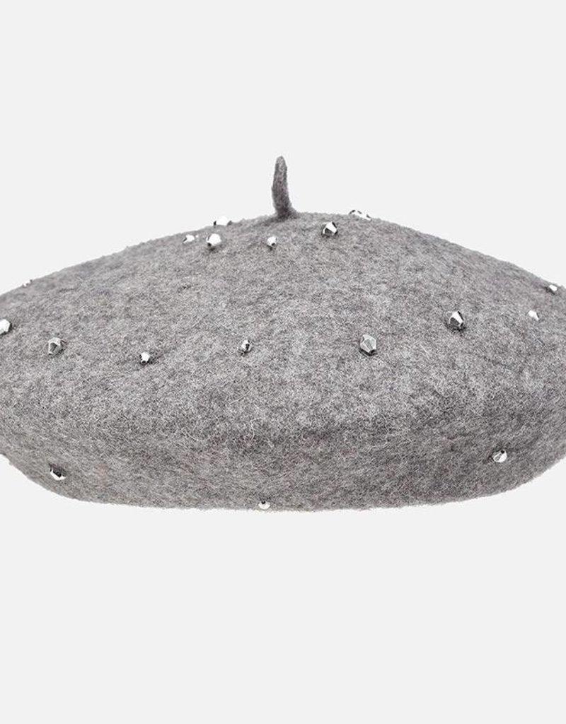 Mayoral USA Grey Jeweled Hat