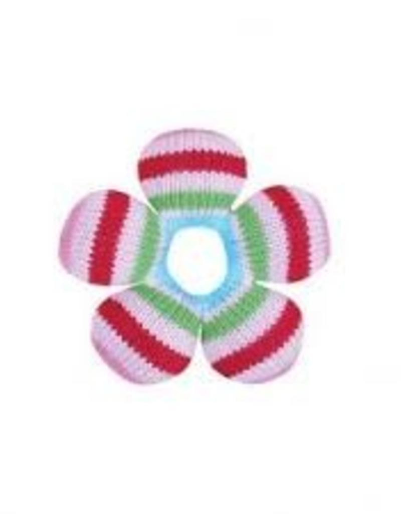 Zubels Multi Stripe Flower Rattle