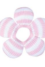 Zubels Pink Stripe Flower Rattle