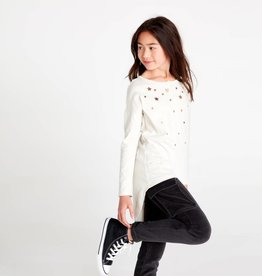 Tea Collection Star Henley Hi-Lo Top