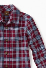 Tea Collection Lakeshore Plaid Baby Btn Shirt