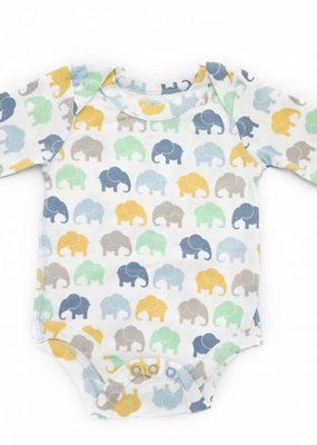 Elephant Moon LLC grow with me long sleeve onesie