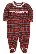 Little Me Red Plaid Ruffle Footie