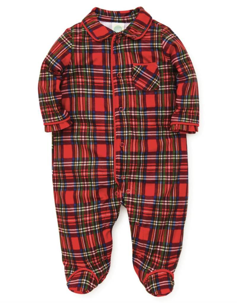 Little Me Red Plaid Footie