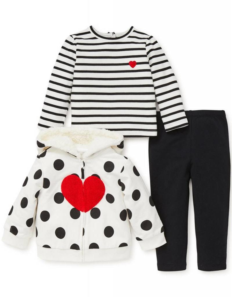 Little Me Heart Hoodie Legging Set