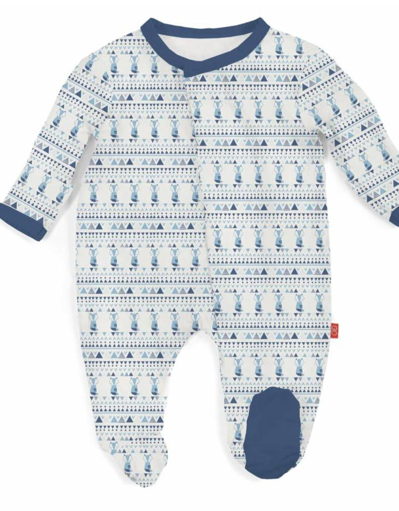Magnificent Baby Blue Foxy Fair Isle Footie