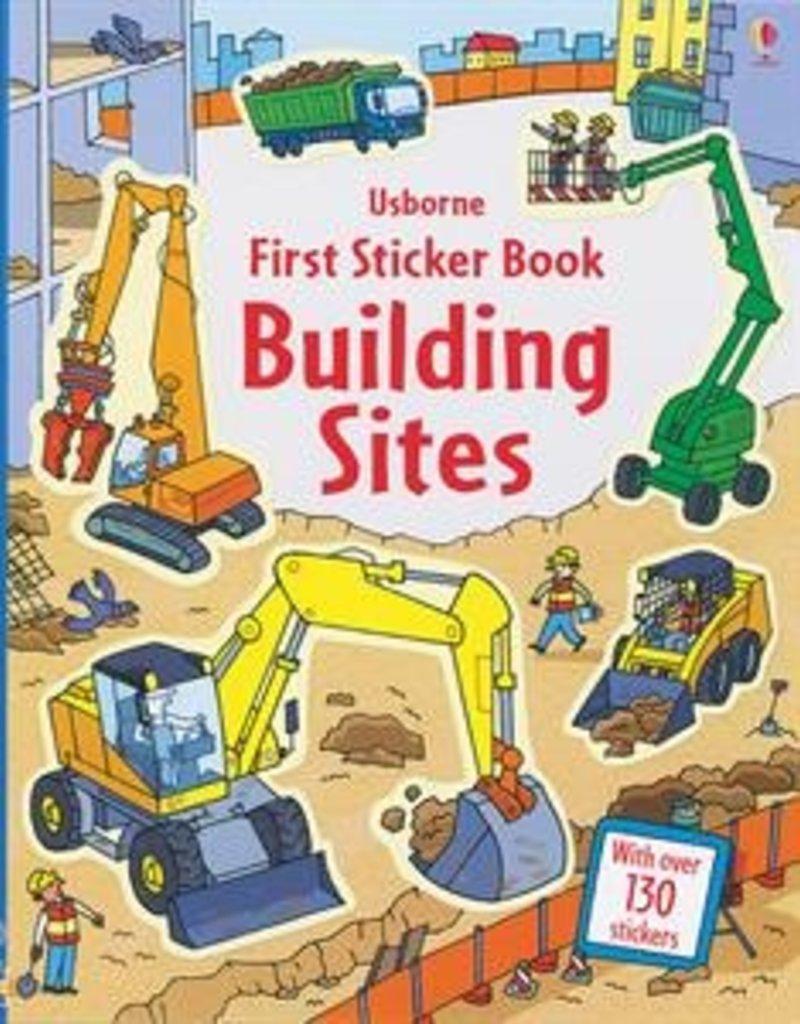 Usborne Books Building Sites Sticker Book